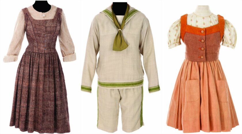 "Pieces from ""The Sound of Music"" costume collection that sold for $1.56 million at a recent two-day auction of Hollywood memorabilia."