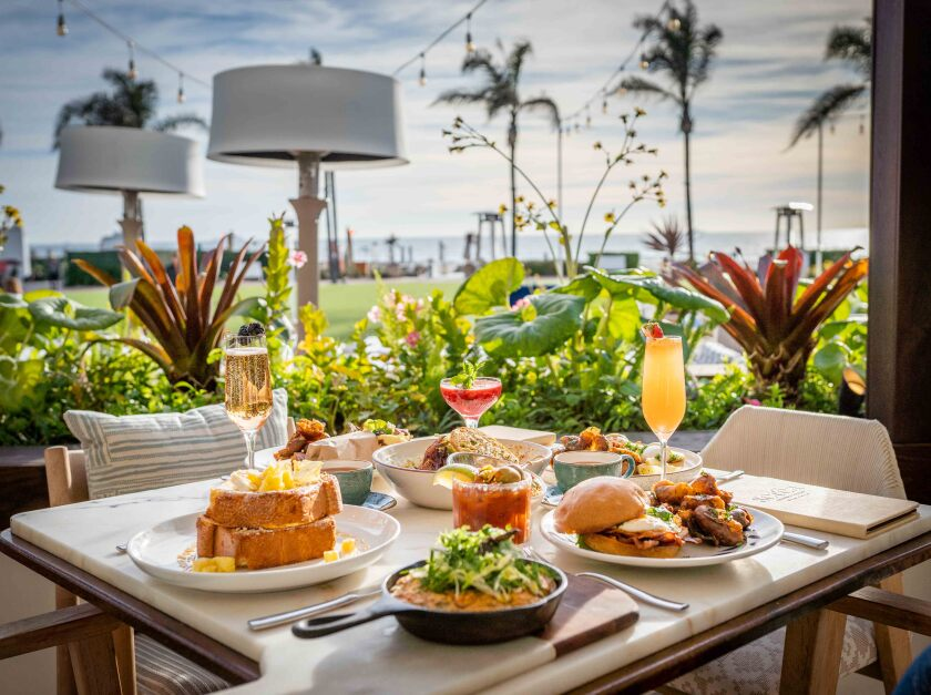 Serea Coastal Cuisine at the Hotel Del Coronado seaside brunch service.