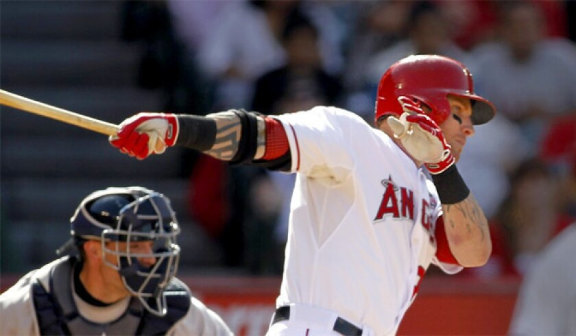 Josh Hamilton is hitting just .213 with 10 home runs and 24 runs batted in for the Angels, a far cry from what many fans expected when the team signed him to a five-year, $125-million contract in December.