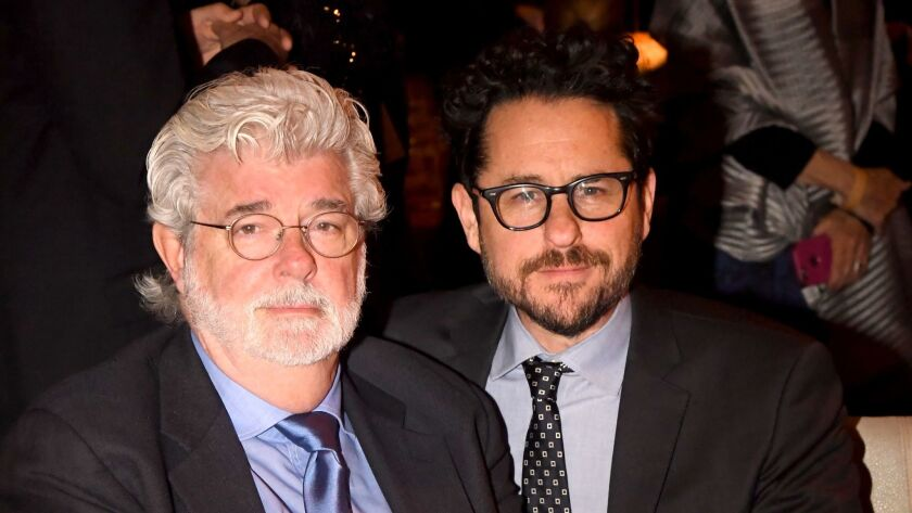 Honoree George Lucas, left, and director J.J. Abrams.