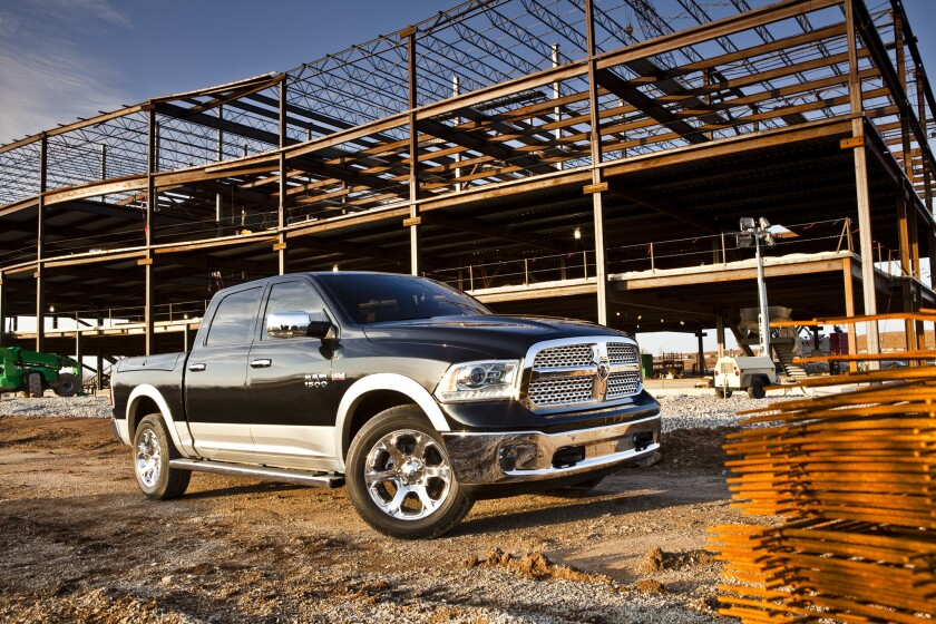 Ram will put on sale this summer a diesel version of the Ram 1500 pickup truck. Above, a gas-powered version of the Ram 1500.
