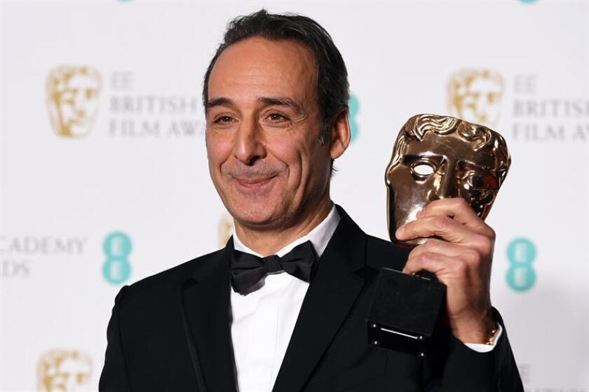 French composer Alexandre Desplat poses in the press room after winning the award for Best Original Music for 'Shape of Water' during the 71st annual British Academy Film Awards at the Royal Albert Hall in London, Britain, 18 February 2018. The ceremony is hosted by the British Academy of Film and Television Arts (BAFTA). EFE