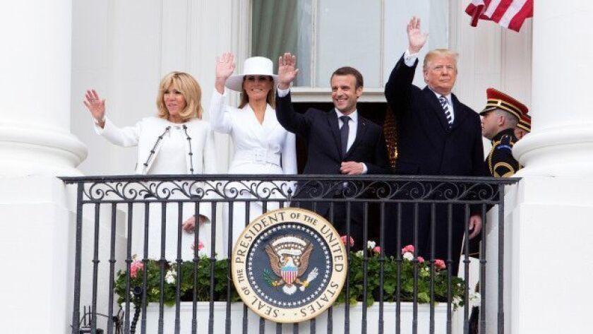 French President Macron visits USA, Washington - 24 Apr 2018