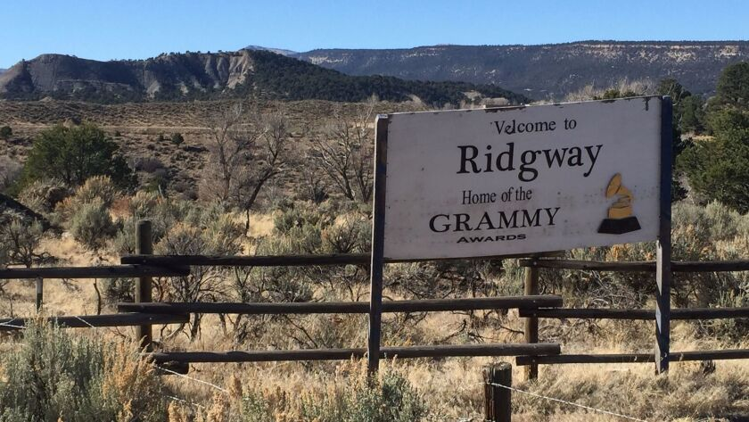 The little town of Ridgway, Colorado, where the Grammy Awards are made, sits in the San Juan Mountai