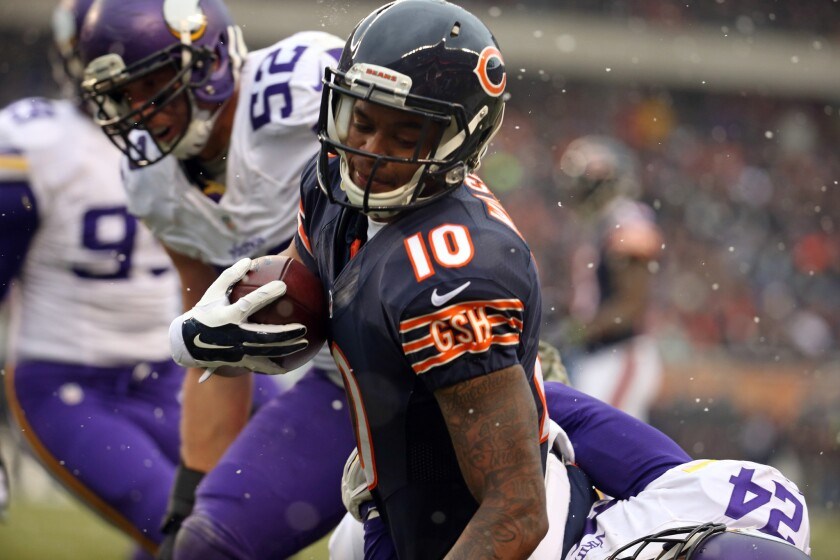 The Bears are giving wide receiver Marquess Wilson some practice time at kick returner.
