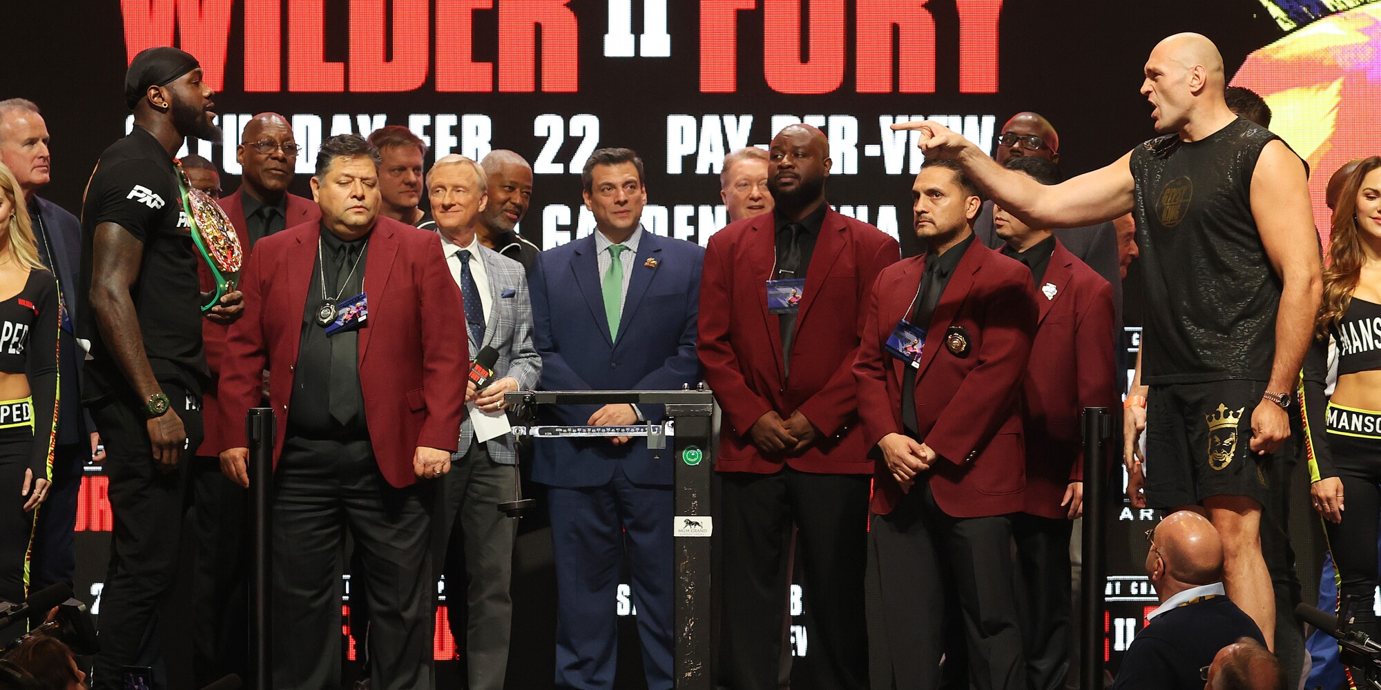 Deontay Wilder and Tyson Fury.