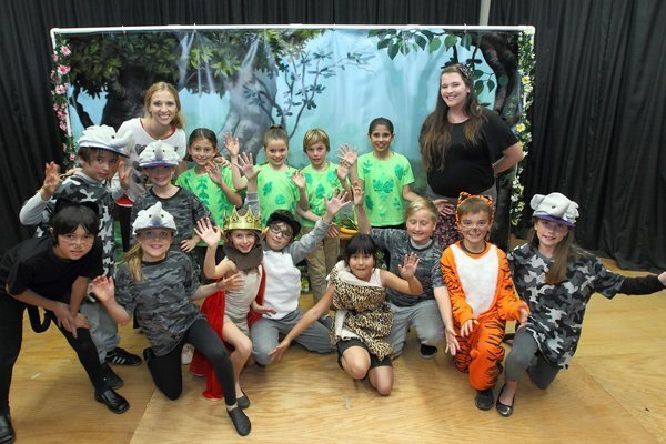 """The cast of """"The Jungle Book"""" performed by Character Kids"""