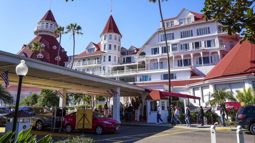 CORONADO, February 7, 2019 | The Hotel del Coronado in Coronado on Thursday. | Photo by Hayne Palmou