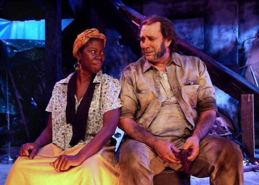 Theater review: 'The Blue Iris' and Athol Fugard's self