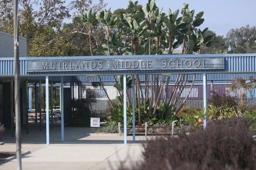 Muirlands Midddle School is located at 1056 Nautilus St.