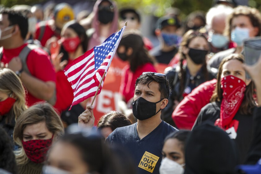 In a year marked by political events, L.A. County public health officials are urging Angelenos to avoid gatherings.