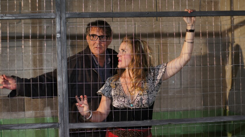 """Daren Scott and Samantha Ginn in Ion Theatre's """"The North Plan."""""""