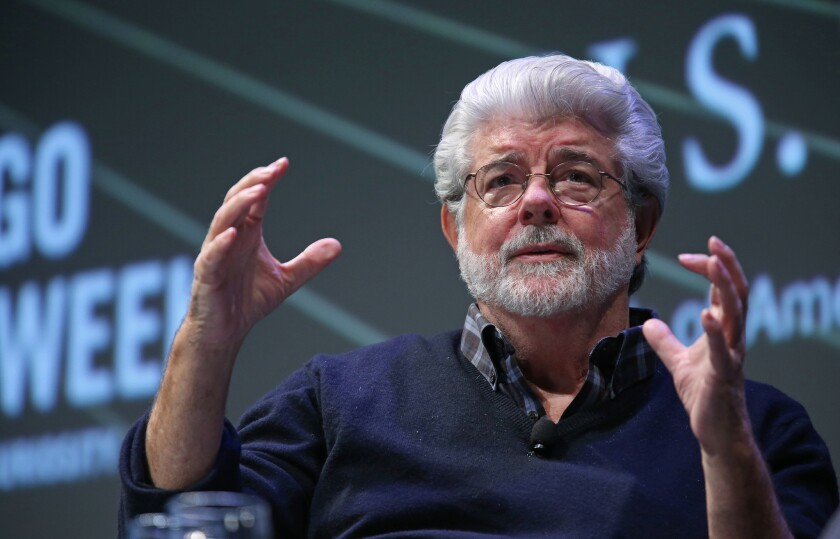 George Lucas discusses his plans for the Lucas Museum of Narrative Art in Chicago in 2014.