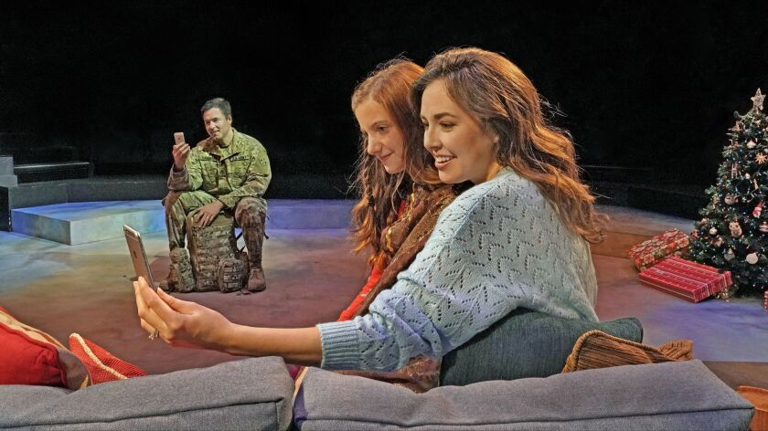 """Aaron C. Finley, Kaylin Hedges and Liana Hunt in """"Clint Black's Looking for Christmas."""""""