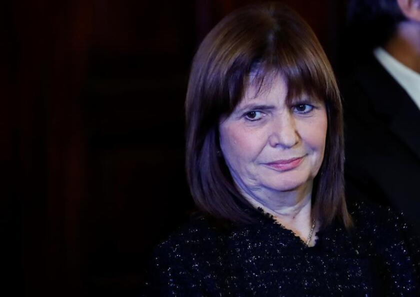 La ministra de Seguridad de Argentina, Patricia Bullrich. EFE/Archivo