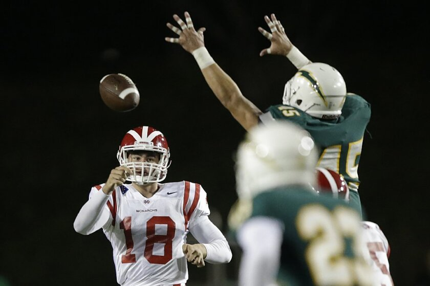 Mater Dei's J.T. Daniels pass for 4,849 yards and 67 touchdowns in 14 games last season.
