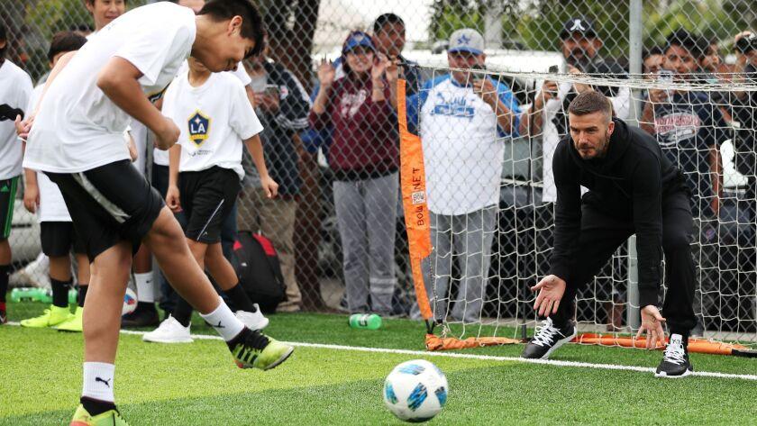 LA Galaxy, David Beckham And Herbalife Nutrition Unveil Community Soccer Field