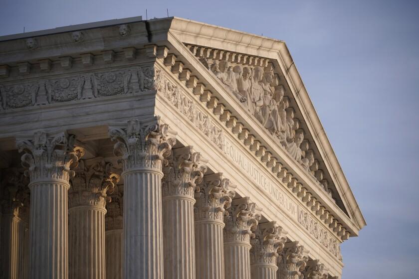 En esta fotografía del 5 de noviembre de 2020 se muestra la Corte Suprema de Estados Unidos, en Washington.