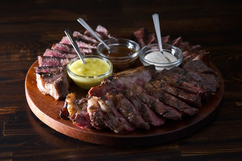The blind daters enjoyed a meat sampler, called The Executive, at Rare Society in Hillcrest.