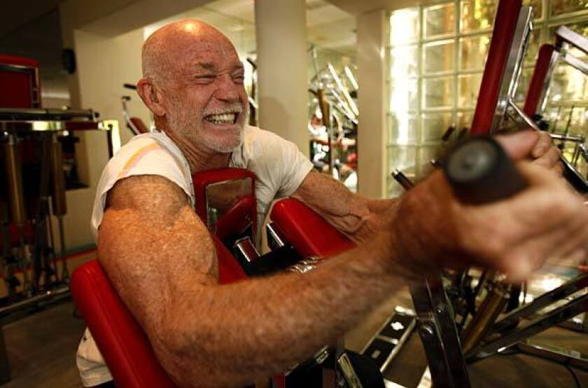 """<b>HOME GYM:</b> """"I think I invented circuit training because I had to -- I didn't have the time to rest,"""" Don Wildman says."""