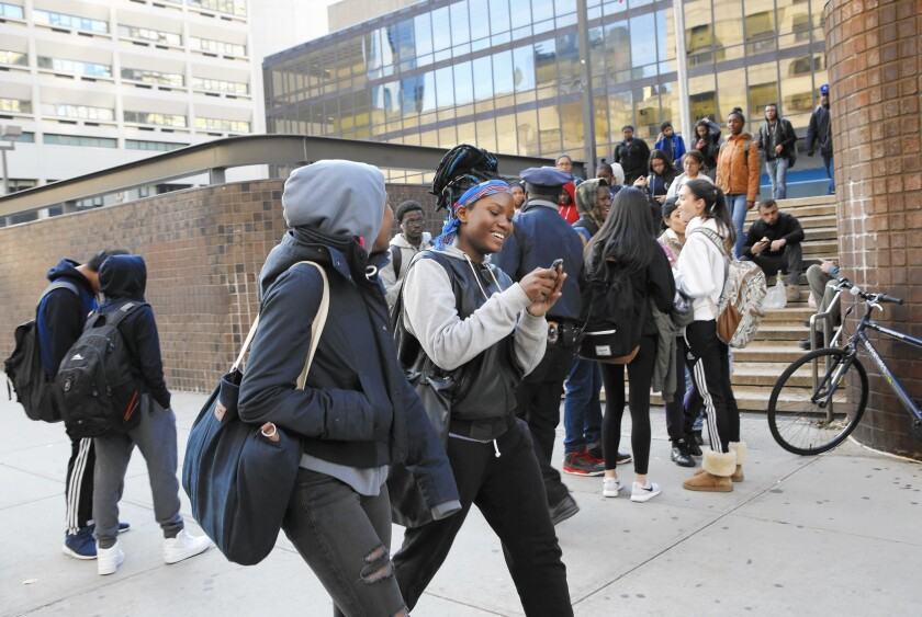 Martin Luther King Jr. High School is one of 88 New York City schools requiring students to pass through metal detectors. It's also the scene of the last shooting at a city school, in 2002, according to the NYPD.