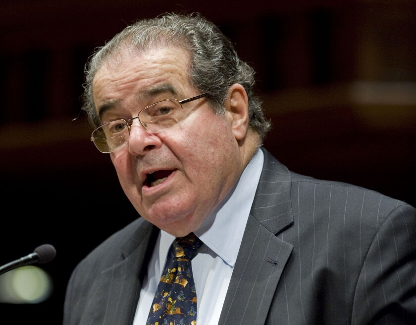 Supreme Court Justice Antonin Scalia agreed that an Alabama defendant did not have a proper defense in his murder trial.