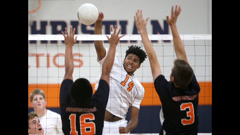 Photo Gallery: Samueli Academy vs. Pacifica Christian Orange County in volleyball