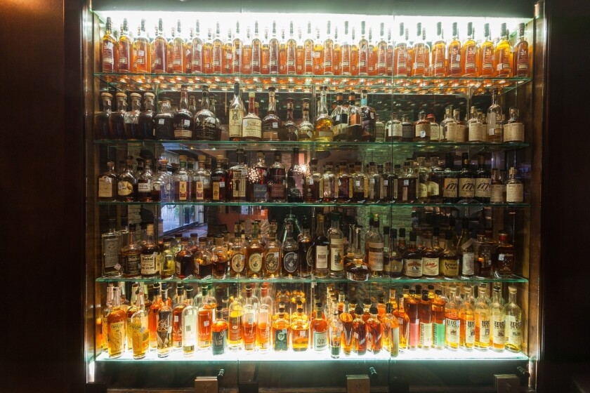 Cullen's restaurant in Houston has one of the largest whisky and Scotch collections in the state of Texas, manager Ryan Roberts says.