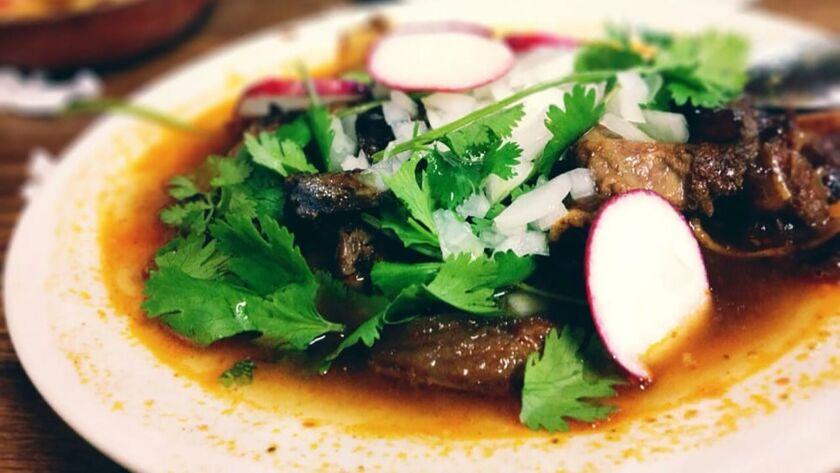 The Birra de Chivo at El Parian Restaurant in Los Angeles. Credit: Walter Lopez