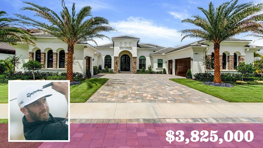 Professional golfer Dustin Johnson has sold his home in North Palm Beach, Fla., for $3.825 million.