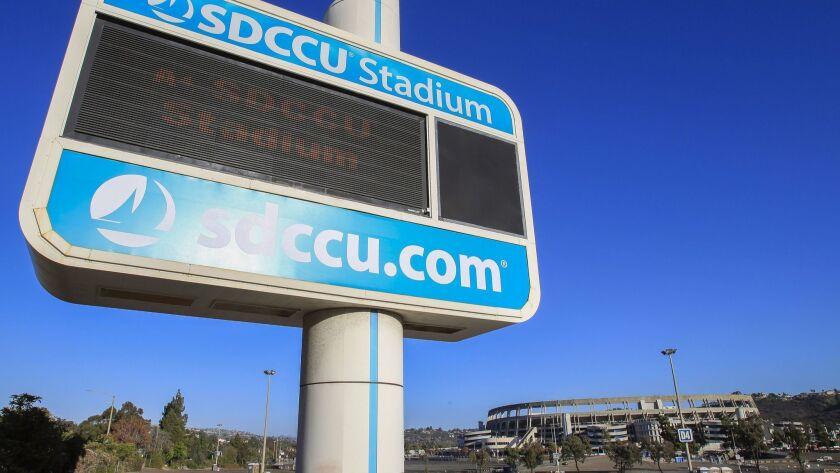 SAN DIEGO, October 9, 2018 | The SDCCU Stadium in San Diego on Tuesday.