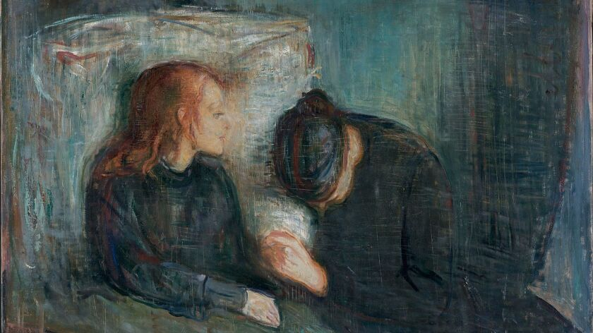 This picture, released by the Museum of Modern Art Wednesday, Jan. 15, 2006, is of Edvard Munch's 18