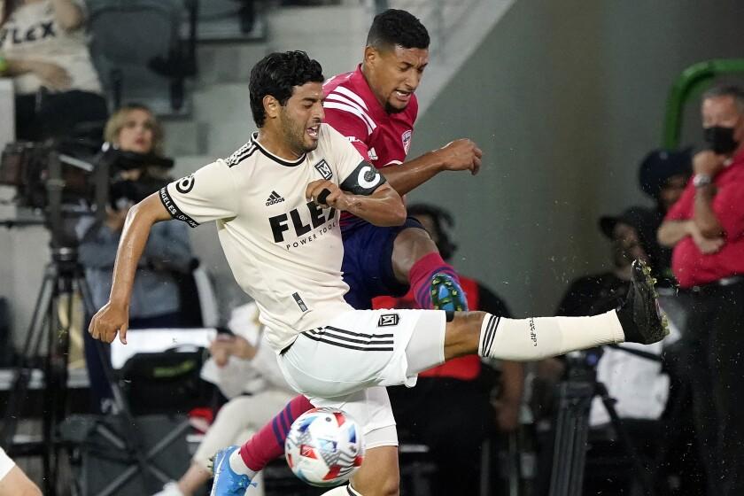 Los Angeles FC forward Carlos Vela,