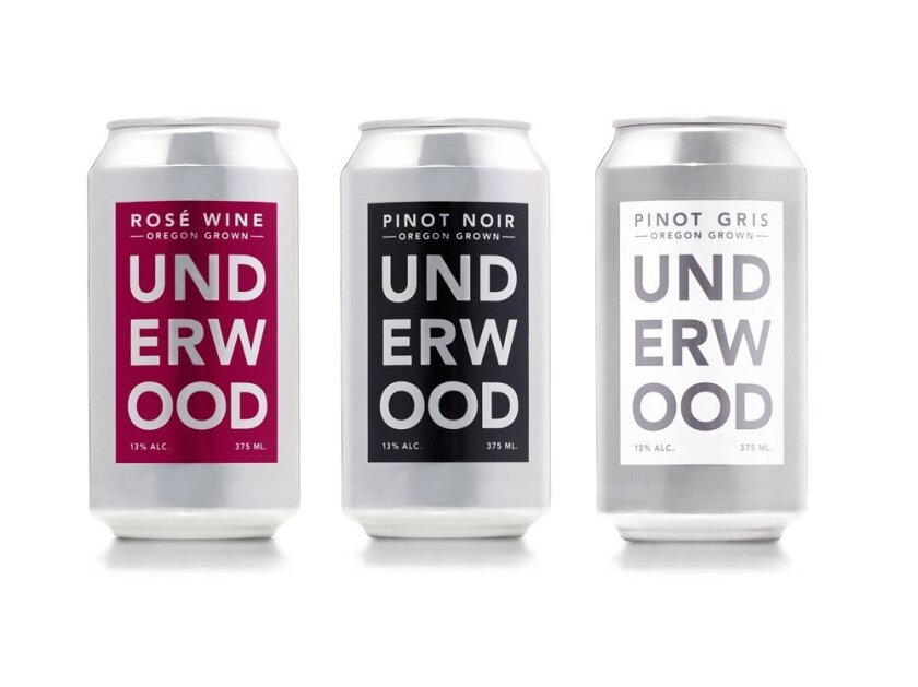 Underwood wines in a can.