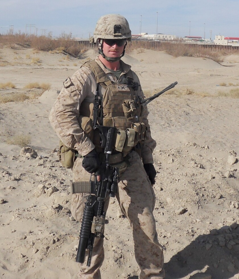 Kaleb Weakley suffered major injuries while deployed in Afghanistan with the U.S. Marines. He was shot in the femur and right arm and was blasted by an improvised explosive device on his way to a helicopter heading to a hospital.