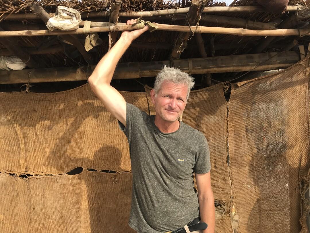 Paul Salopek at a salt mine in Rajasthan, India.