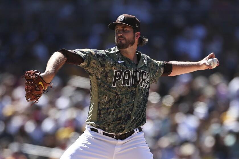 Padres relief pitcher Drew Pomeranz
