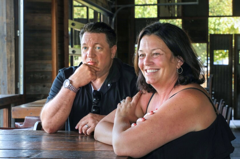 Roddy, left, and Aaron Browning, owners of the Flying Pig Pub & Kitchen in Vista, speak about their decision to temporarily close the venue and give it a new name and concept.