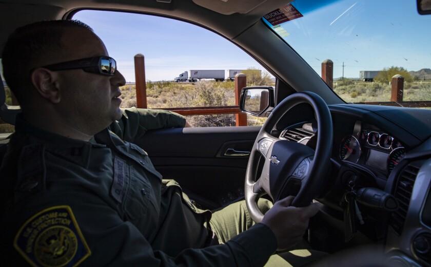 CABEZA PRIETA NATIONAL WILDLIFE REFUGE, ARIZ. -- TUESDAY, MARCH 5, 2019: U.S. Customs and Border Pat