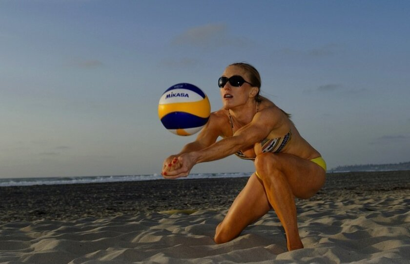 Encinitas' Kim DiCello was recently named the Most Improved Player on the AVP Pro Beach Volleyball Tour. She has her sights set on the 2016 Olympics.