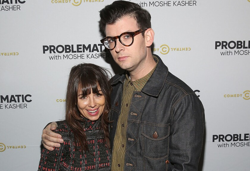 Natasha Leggero and Moshe Kasher. (Jesse Grant/Getty Images for Comedy Central)