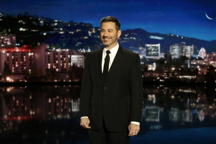 Comedian Jimmy Kimmel on stage
