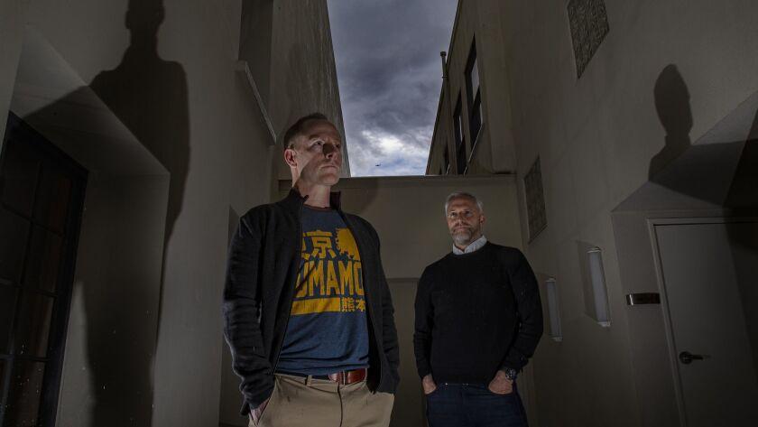 CULVER CITY, CA - MAY 22, 2019: Mark and Brian Gunn are the writers behind BRIGHTBURN, a superhero h