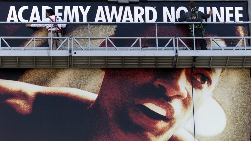 Hollywood spreads the word about Will Smith's lead actor Oscar nomination in 2002.