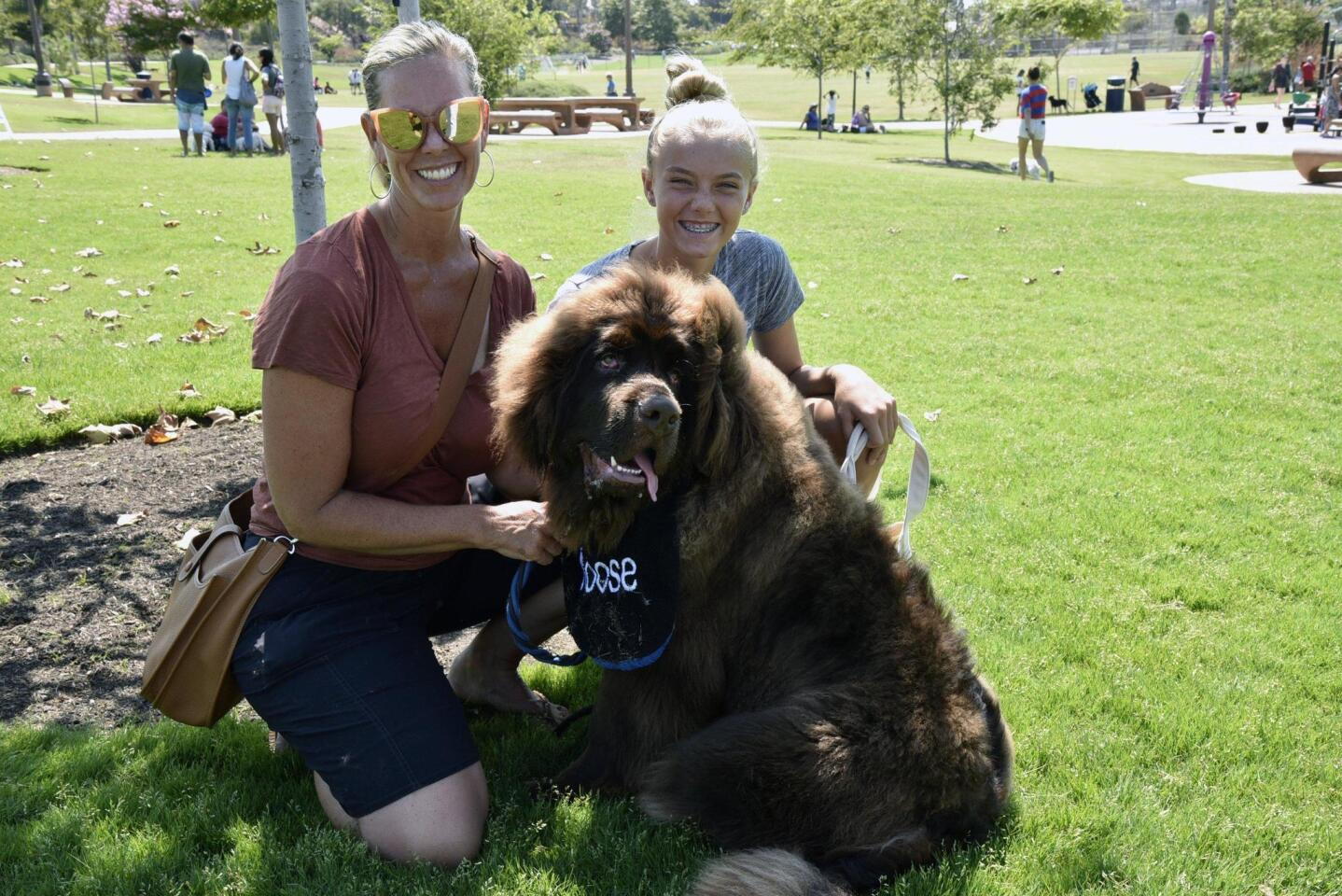 Tiffany Fairchild and Chole, with their puppy Moose