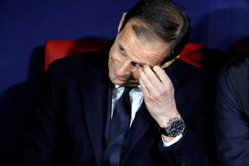 El entrenador de la Juventus Massimiliano Allegri antes del partido de ida de octavos de final de la Liga de Campeones que Atlético de Madrid y Juventus jugaron en el Wanda Metropolitano, en Madrid. EFE/Archivo