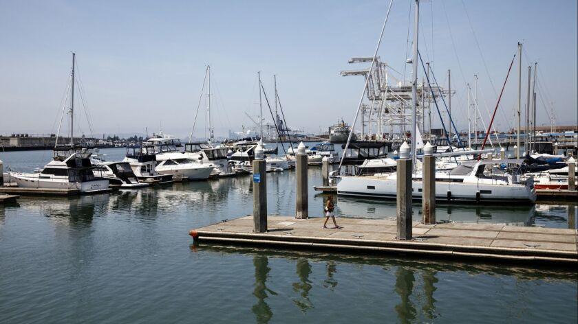 OAKLAND, CA--MAY 10, 2016-- The waterfront, at Jack London Square, in Oakland, CA, May 10, 2016. (J