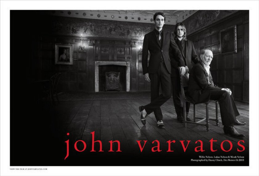 From left, Micah, Lukas and Willie Nelson in an image from the fall 2013 John Varvatos advertising campaign.
