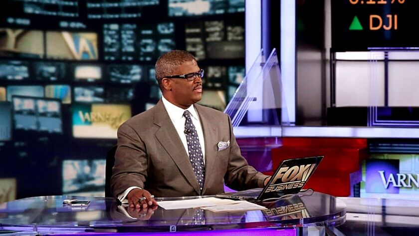 Fox Business Network host Charles Payne at Fox News studios in New York.