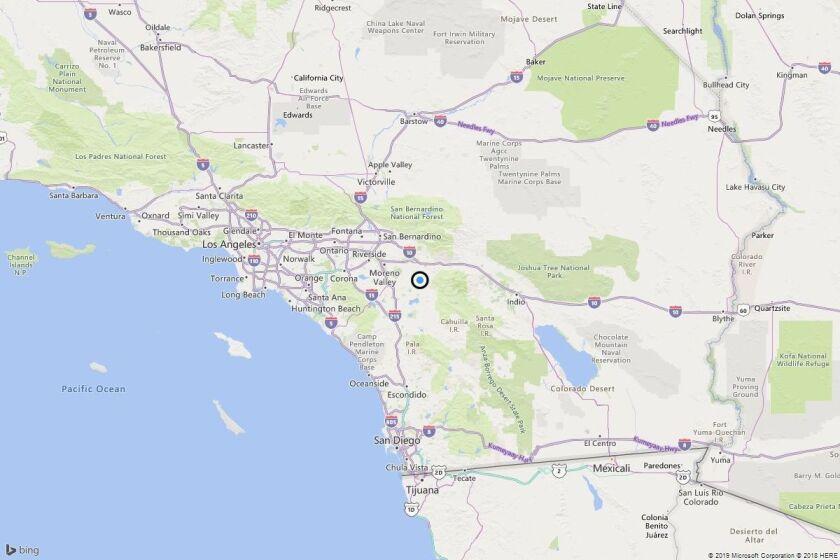 Earthquake: 3.0 quake strikes near Gilman Hot Springs, Calif.